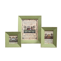 Simple Light Green Wooden Photo Frame For Kids Child 1pcs 6inch Picture Frame Desktop Wall Home Decor Frames For Pictures