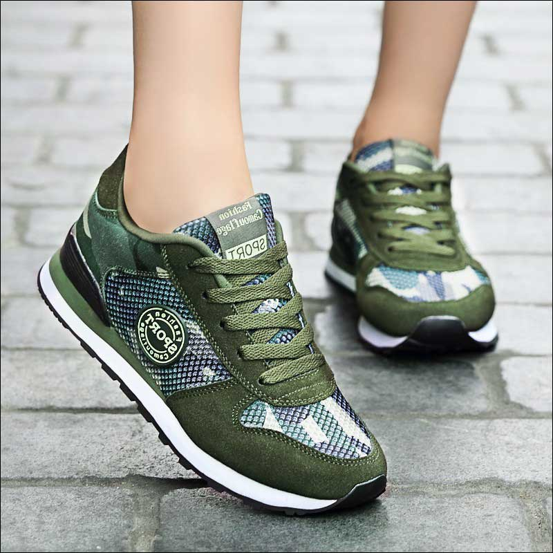 Camouflage Canvas Shoes Woman Breathable Runing Shoe Women Sneakers Female Casual Shoes 2019 Tenis Feminino Plus Size 44