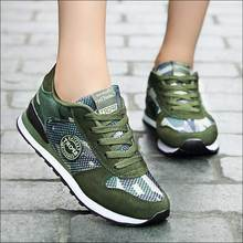 Camouflage Canvas Shoes Woman Breathable Runing Sho
