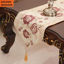European Style  Embroidery Chinese Table Runners Beautiful Home Decoration Elegant Luxury Wide Runner