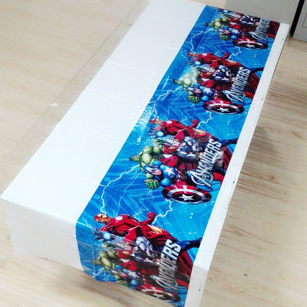 108cm*180cm Superhero Party Supplies Table Cloth  Kids Avengers Decorations Birthday party Decoration
