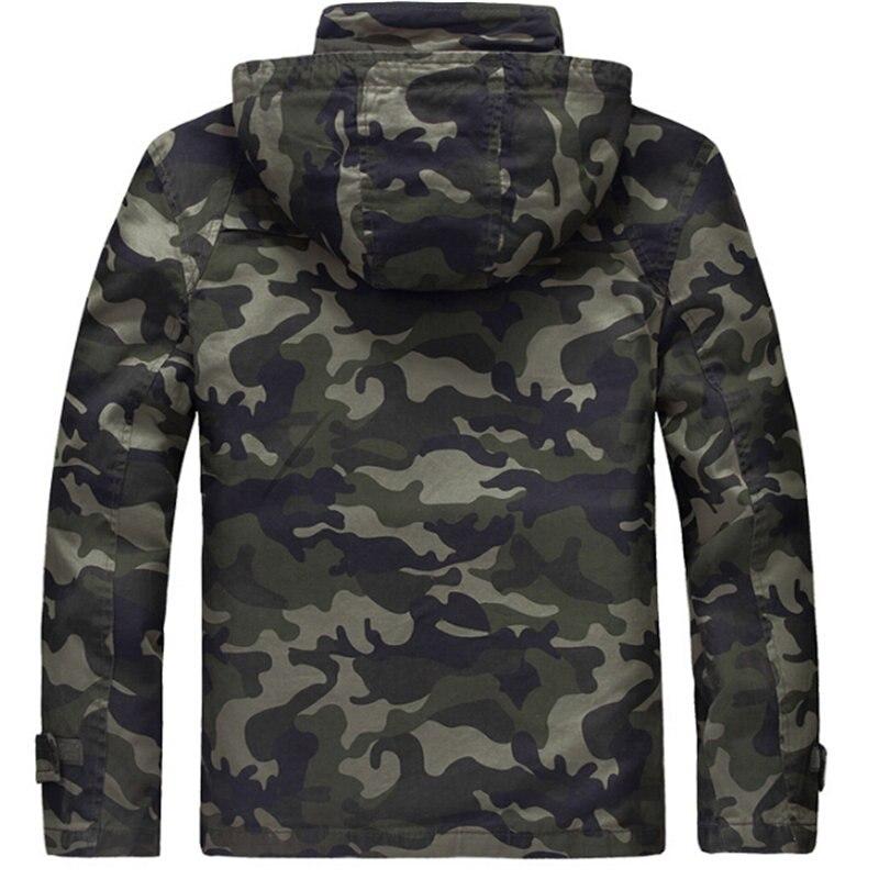 De Camouflage Hommes Slim Zipper Vestes Chaud Pour Green Printemps Survêtement khaki À Army Mode Mâle Veste Coton 100 Manteaux Casual Capuchon Épais Wtn4q