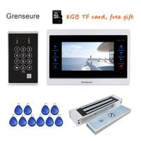 Free Shipping 720P AHD 7 Video Door Phone Intercom Unlock Record Screen Motion Detection Code Keypad