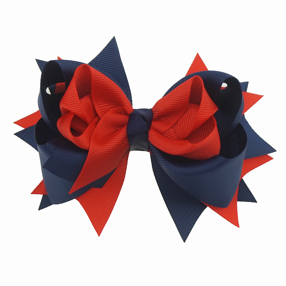 1Piece 5inch Girls Hair Bows For Girls Hairpins Boutique Soild Ribbon Bows Hair clips   Headwear   Kids Handmade Hair Accessories