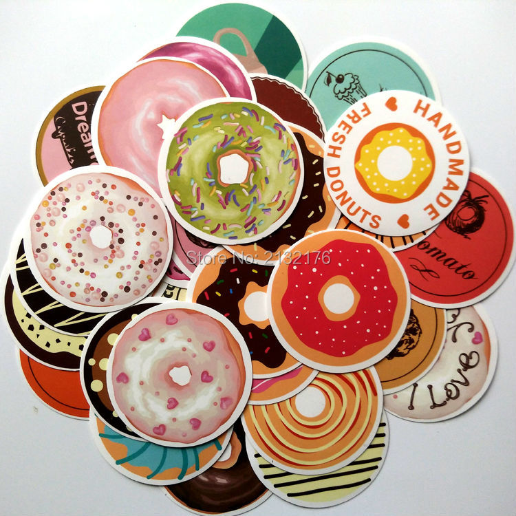 35pcs donuts sealing sticker gift posted baking decoration for Bakery decoration
