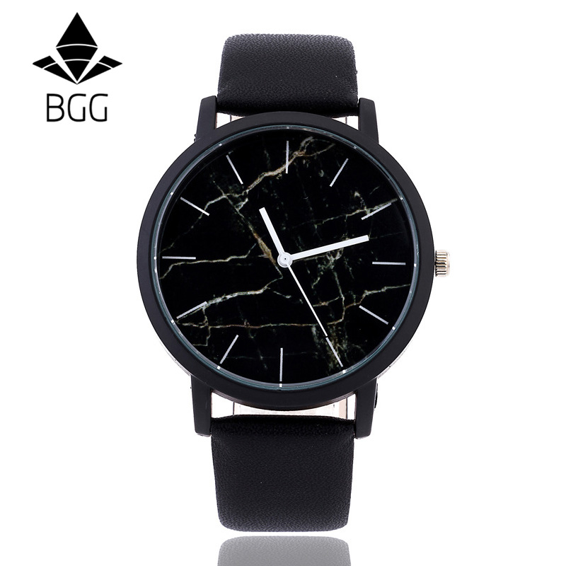 Ladies Marble Watches British style Fashion Marbling Dial Unique Watch Men Women Quartz Wristwatch Simple Leather Casual Clock onlyou men s watch women unique fashion leisure quartz watches band brown watch male clock ladies dress wristwatch black men