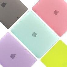 PVC rígido Matte Caso Laptop para Macbook Pro Ar Retina 11 12 13 15 polegada A1370 A1932 A1466 Estojo protetor funda para MacBook Caso