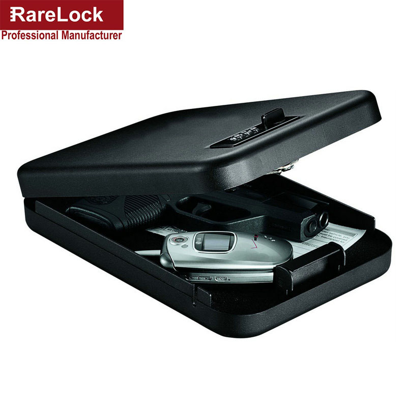 Rarelock Handgun Vault Combination 1911 Style Pistols Code Password Biometric Safe Box Solid Steel Valuables Box Portable Lock a factory direct portable car safe password safe exported to the us pistol cartridge os300c