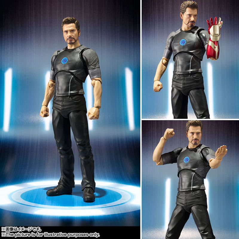 C&F Iron Man Anime Action Figure Toys Superhero Anthony Edward Stark Tony 15 CM Collectible PVC Figures Toys For Boys Gifts 1set hot toys hottoys ht mms209 1 6 iron man tony stark the mechanic collectible figure specification new box in stock