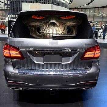 Наклейки на заднее окно автомобиля grim Reaper графическая наклейка для грузовика SUV Van автомобильные водонепроницаемые наклейки DIY украшения