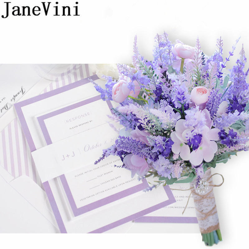 Janevini Pink Purple Lavender Wedding Flowers Bridal Bouquets