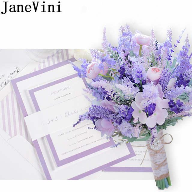 Janevini Pink Purple Lavender Wedding Flowers Bridal Bouquets