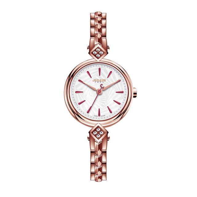 Top Brand Julius Metal Watch Bracelets Relojes De Mujer De La Marca De Lujo 2017 Women Clock Shell Dial Women Dress Hour JA-881 | Fotoflaco.net