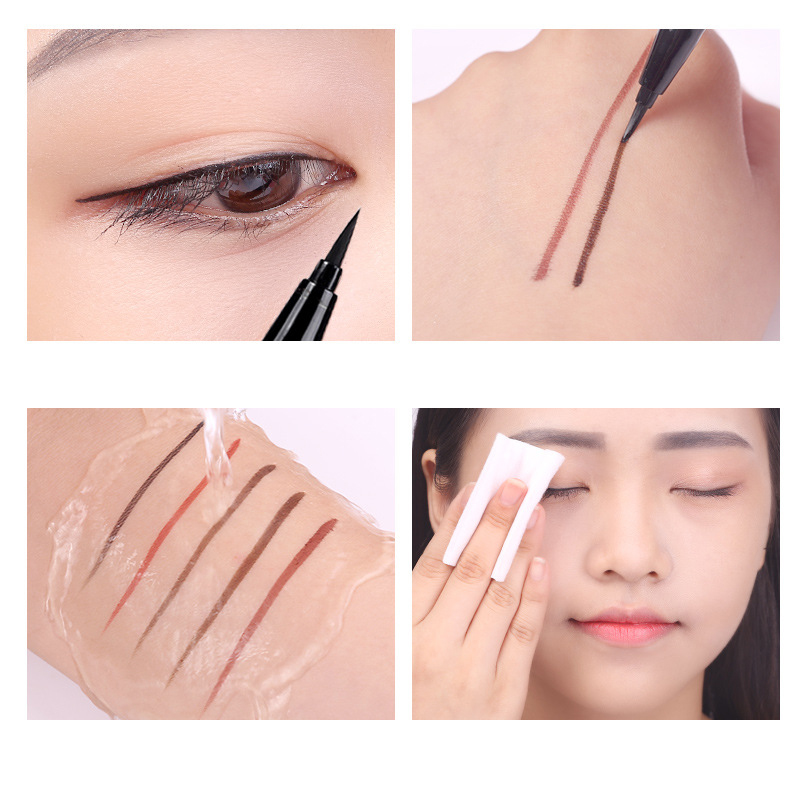 XIXI Brand Eye Liner Cosmetics Easy to Wear Long Lasting Waterproof Brown Red Color Liquid Eyeliner Makeup