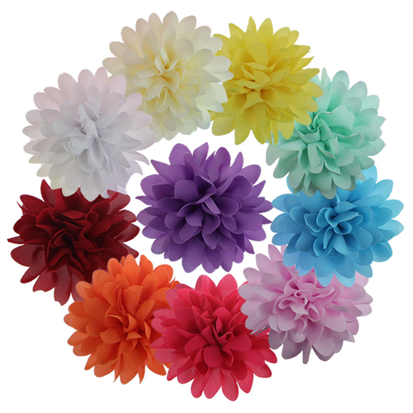10 pcs/pack Cute Baby girl hair clips barrettes chiffon flower hairpins kids hair accessories 10pcs lot small flower baby kids hair