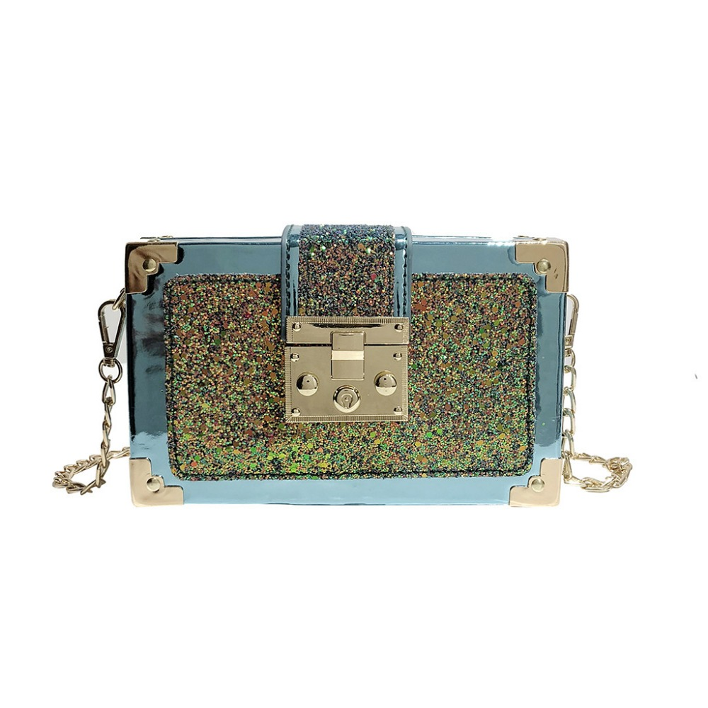 Crossbody Bags For Women 2019 Fashion Messenger Bag For Girls Sequins Leather Crossbody Shoulder Beach Bag K508