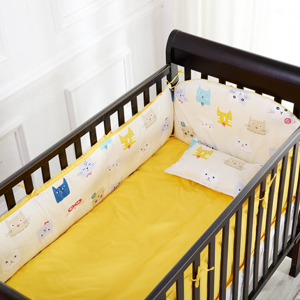 Promotion! 6PCS New Arrived Baby Sets Bedding Set 100% Cotton Crib Bumpers (bumper+sheet+pillow cover)