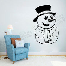 цена на YOYOYU Wall Decal Snowman Christmas wall stickers art remove vinyl mural stickers for home window decor Pattern sticker ZW59