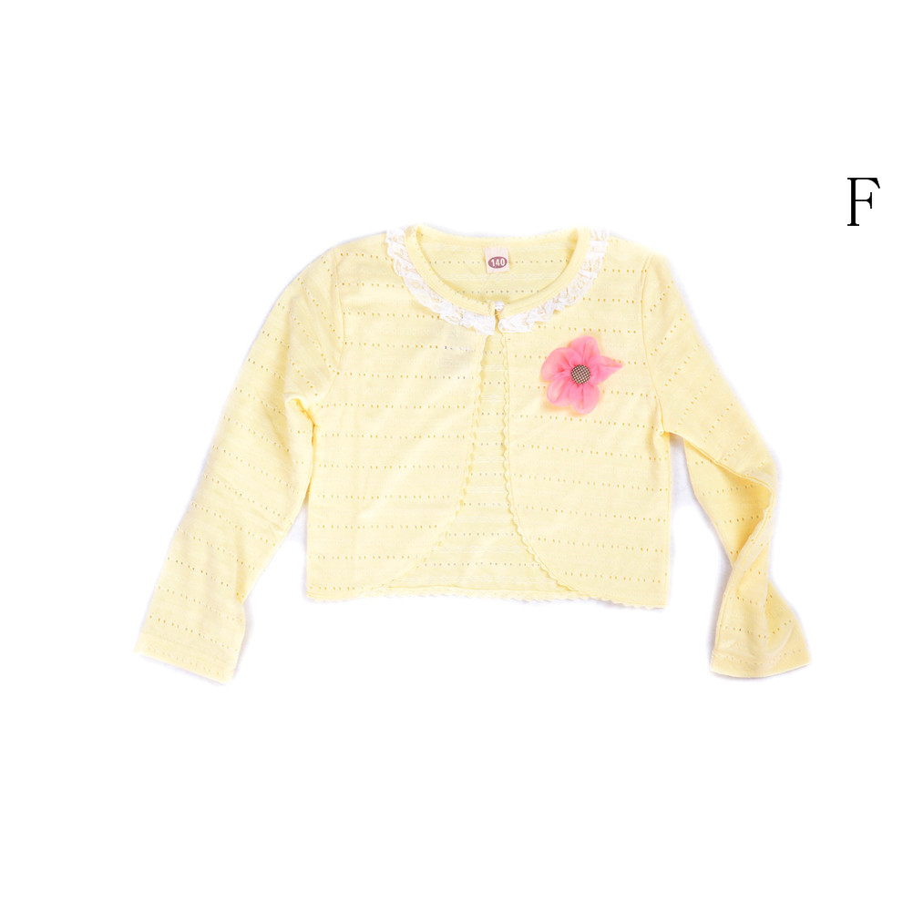 e85d87323 Cotton Polyester Thin Long Sleeve Kid Girl Summer Lace Cardigan for 1/2/3