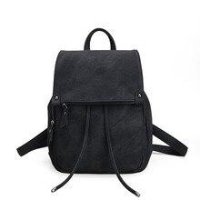 Рюкзак P1Perfect # школа кожа ветер раза мешок мягкие однотонные Модные женские Бесплатная доставка