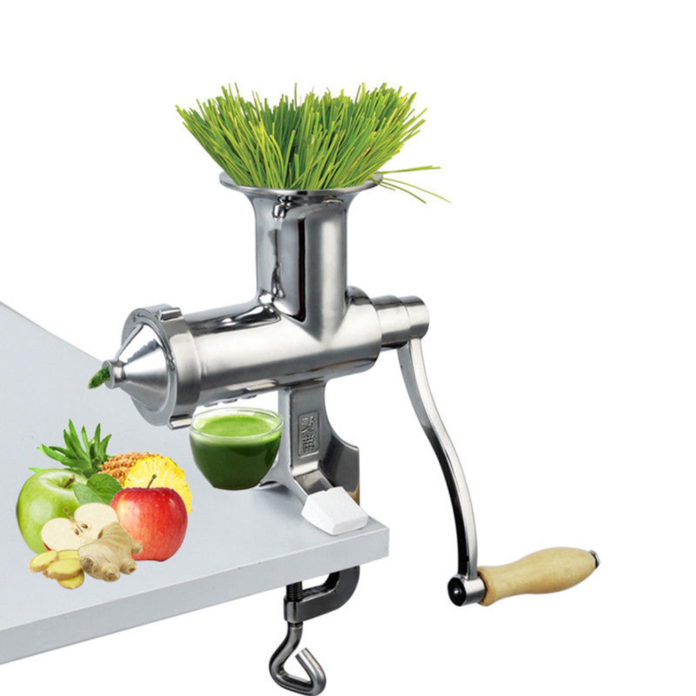 ELE Fast Shipping Stainless Steel Manual Hand Wheat Grass Wheatgrass Slow Juicer Vegetables Orange Extractor Machine цена