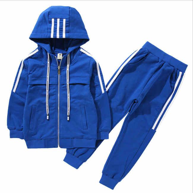 מכירה לוהטת אביב סתיו נער בגדי סט ילדים אופנה כותנה חולצות + מכנסיים 2 pcs לילדים קטנים תלבושות אימונית 4-10Y