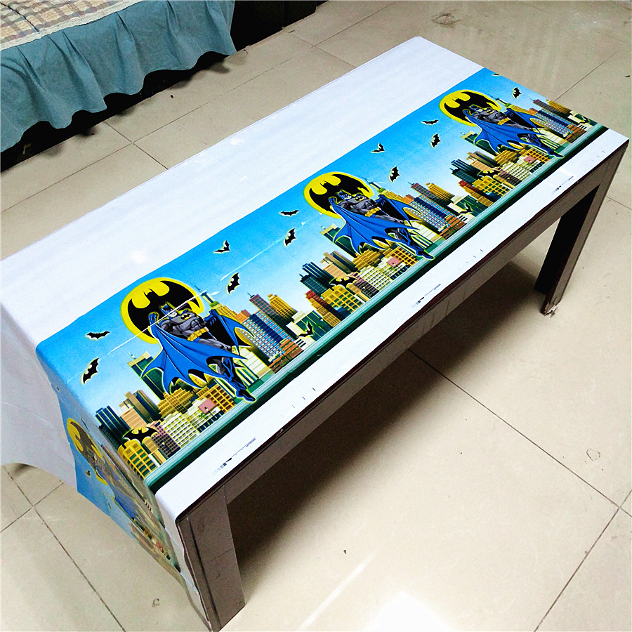 108cm 180cm Batman Birthday Party Decoration Kids Boys Event Party Supplies Superhero Table Cloth For Birthday Party Tablecloth in Disposable Party Tableware from Home Garden