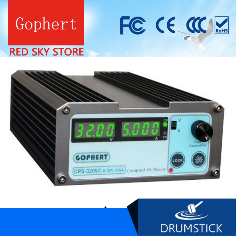Gophert CPS-3205C DC Switching Power Supply Single Output 0-32V 0-5A 160W adjustable gophert cps 1660 16v 60a digital adjustable dc power supply switching power supply cps 1640