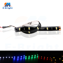 20pcs 12V DC  3528 15 SMD 30cm LED Strip Light Flexible Car Light Assembly Decorative Light Multi Colors 90Lm 18w 1200lm 635 700nm 300 smd 3528 led red light car flexible decoration strip dc 12v 500cm