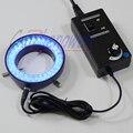 Кольцевая лампа FYSCOPE синего цвета  60 шт.  регулируемая яркость светодиодов  с адаптером  220 В или 110 В для стереомикроскопа