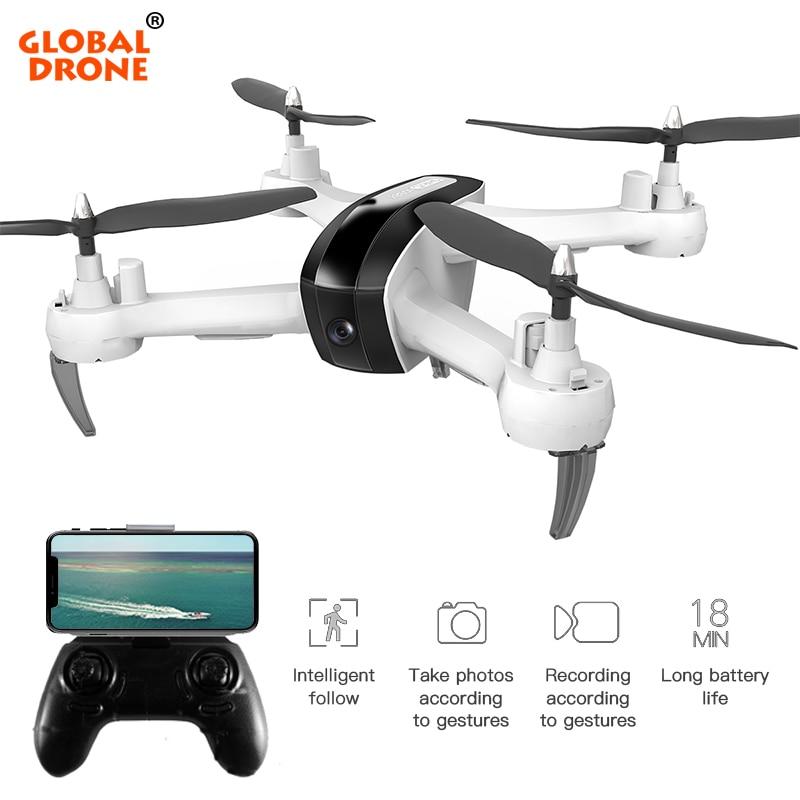Globale Drone Intelligent Folgen Mir Quadcopter mit Kamera HD 1080 p Lange Batterie Lebensdauer Eders Geste Unter Foto Live Video drohnen-in RC-Hubschrauber aus Spielzeug und Hobbys bei  Gruppe 1