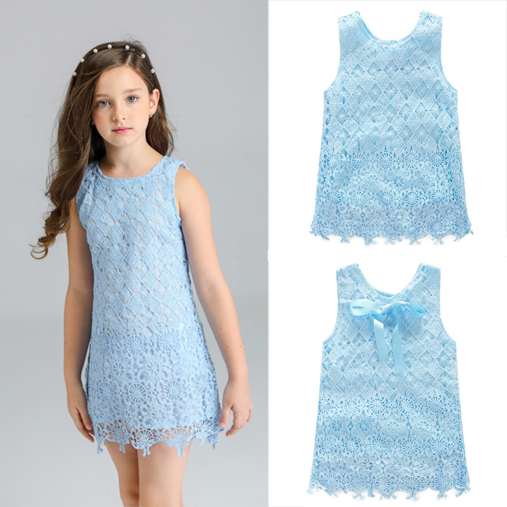 New Baby Girl Summer Lace Vest Dress Kids Sleeveless Sundress Formal Birthday Wedding Party Clothing Princess Dresses eicher agricultural development in the third world