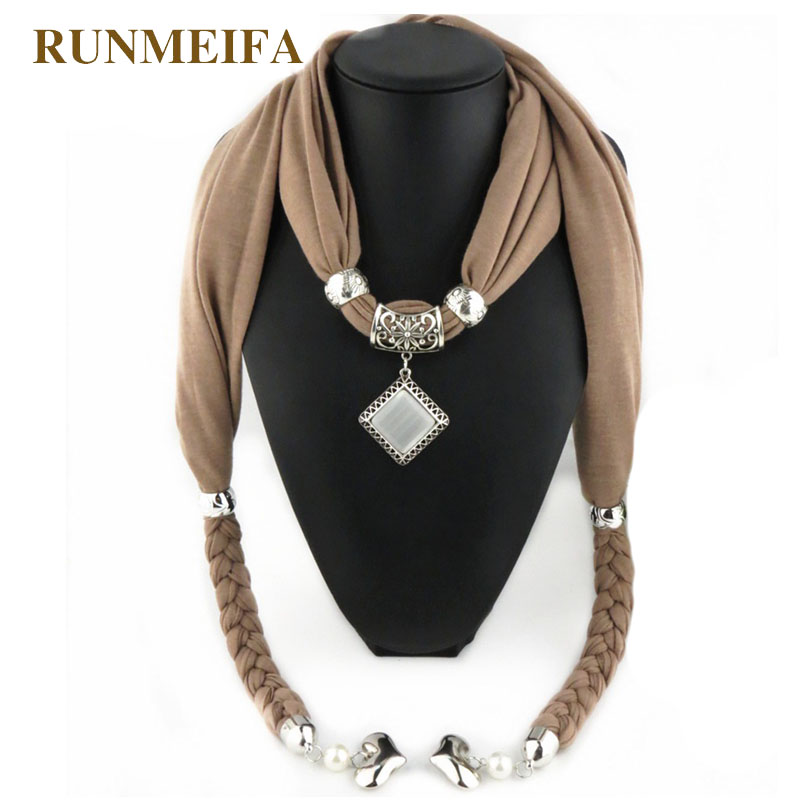 2018 New Fashion Hot Selling Pendant Jewelry Scarf  Women Accessories Scarfs Fashion Luxury Brand Scarf Necklace Gifts In Stock