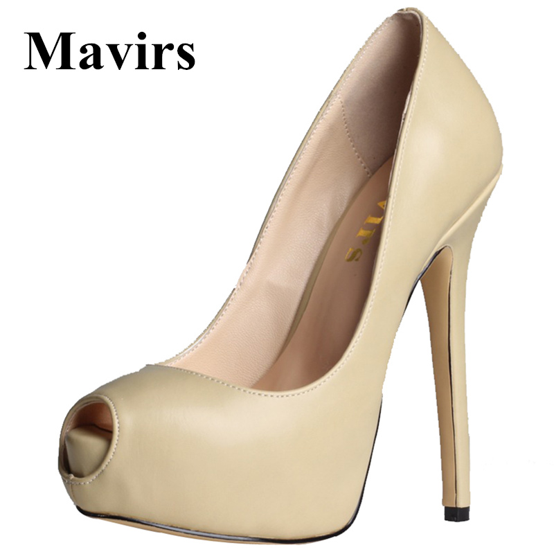 2017 Peep Toe Large Size Platform High Heels Sexy Women Pumps Female Footwear OL Wedding Bride Party Stiletto Shoes avvvxbw 2017 spring women s pumps high heels platform shoes diamond peep toe thin heels sexy women s wedding shoes pumps c372