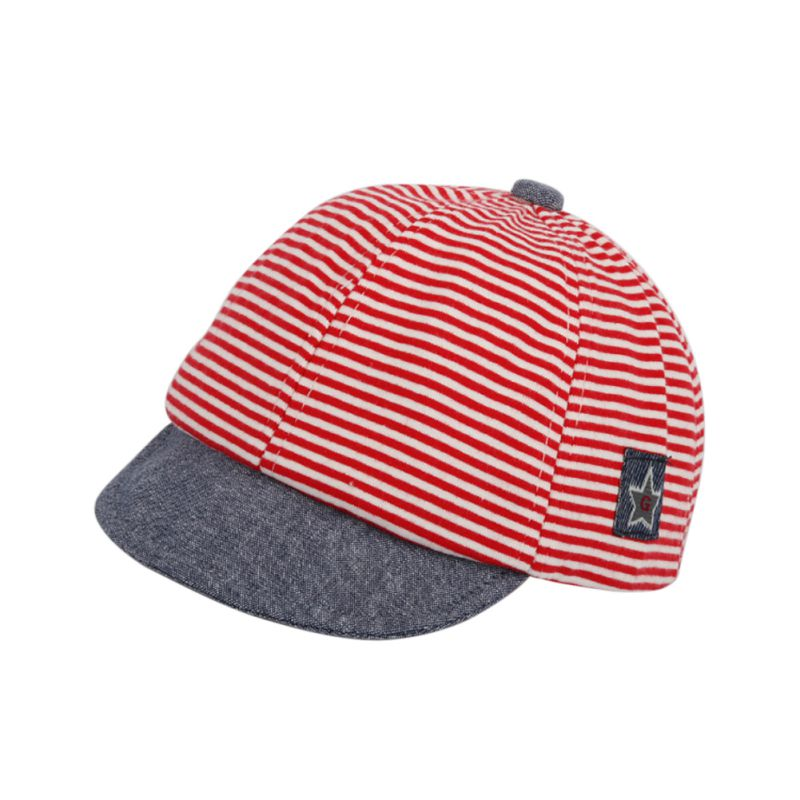2018Baby Classic Striped Hat Fashion Cotton Baby Boy Cap Adjustable Infant Hats for Girl 6-18M(China)