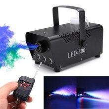 RGB LED Fog Machine Afstandsbediening Verlichting DJ Party Stage Rook Thrower Kleurrijke Spuit Zimne Ognie Disco Dj Bruiloft 500 W