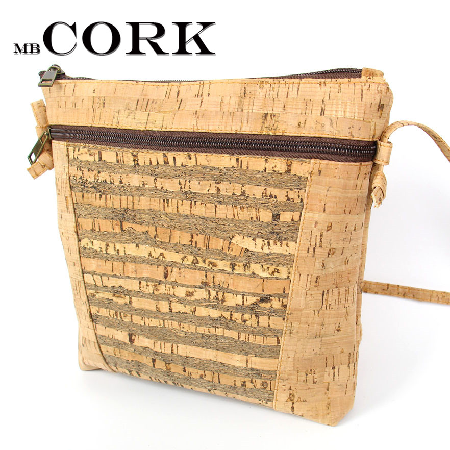 Natural cork body cross Strip cork Bags Messenger bag original handmade wood vegan Eco Portugal bags Bag-187