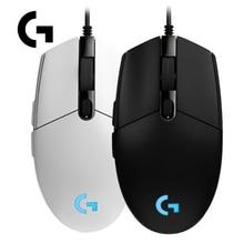 Logitech G102 IC PRODIGY 6000 Точек на дюйм PC Gamer 1000 Гц Частота опроса 16,8 м Цвет RGB игровой Мышь Gamer-черный/белый