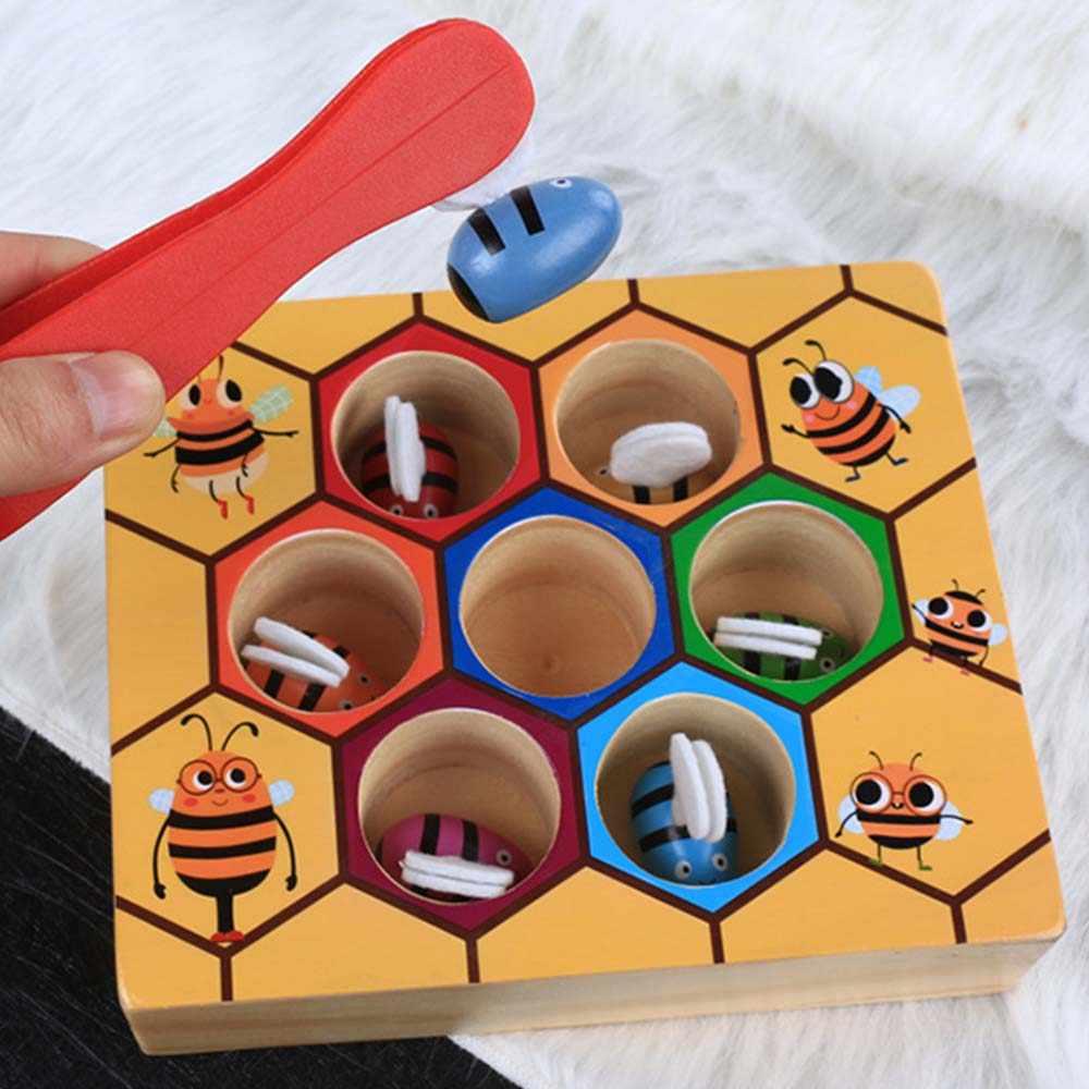 Монтессори улей игры доска пчелы с зажимом забавная игрушка для ловли обучающая улей детские развивающие игрушки доска