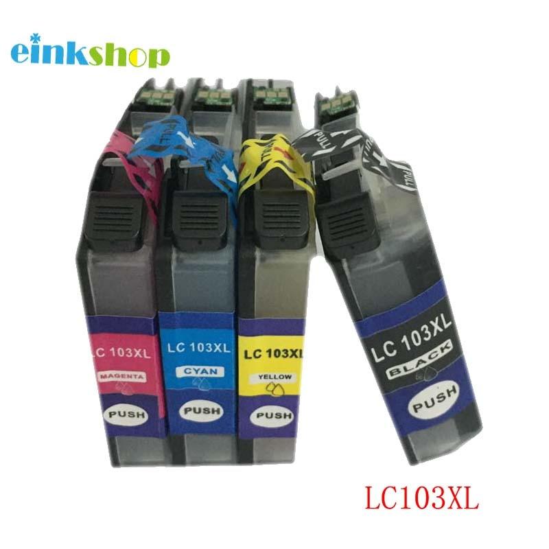 Cartucho de tinta para o irmão lc103 LC101 einkshop DCP-J152W MFC-J245 MFC-J285DW MFC-J450DW MFC-J470DW MFC-J475DW impressora