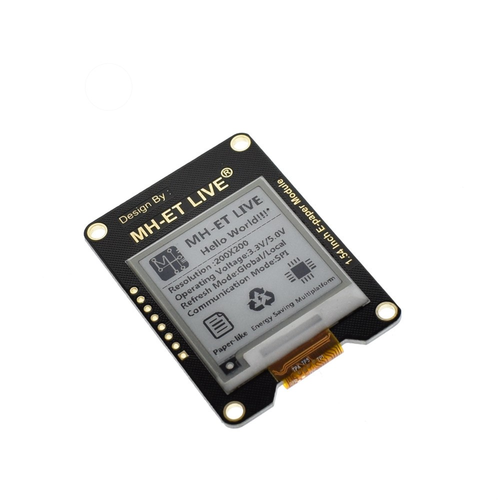 Mh Et Live 154 Inch Epaper Module E Paper Ink Eink Display Screen Topic Ssr Solid State Relay And Arduino Uno Read 2938 Times Thinary Spi Support