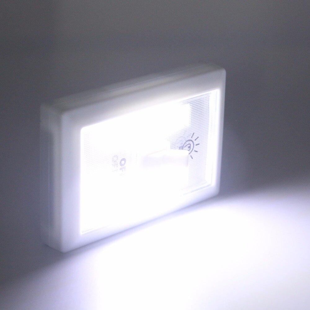 Mini COB LED Lamp Switch Wall Night Lights Battery Operated ...