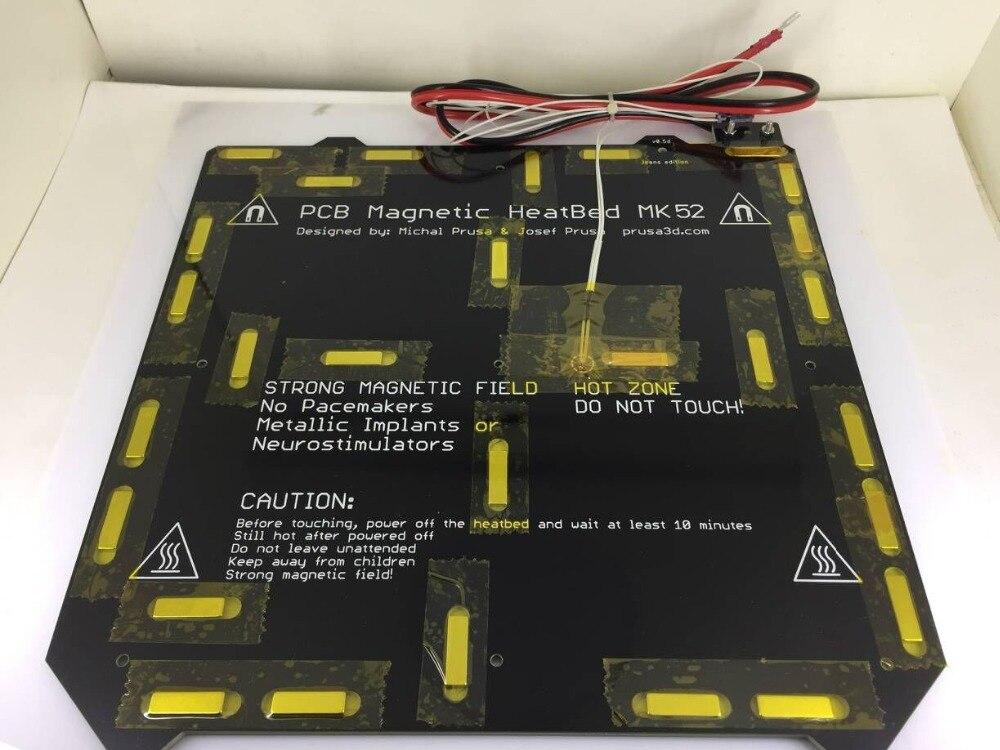 24 V/MK3 12V Clone Prusa i3 3d impressora de cama aquecida Magnético MK52 Heatbed com termistor assembléia set