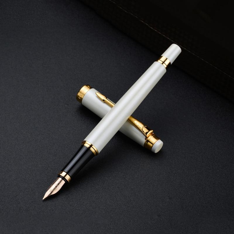 Luksusowe bohater H706 10k złota wieczne pióro w biały głębokie szary czarny 3 kolory do wyboru wysokiej klasy prezent długopisy z oryginalne pudełko w Pióra wieczne od Artykuły biurowe i szkolne na  Grupa 1
