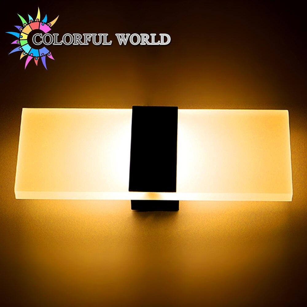Modern 3W 5W 7W Led Wall Lights for Bedroom Study Room Acrylic Home ...