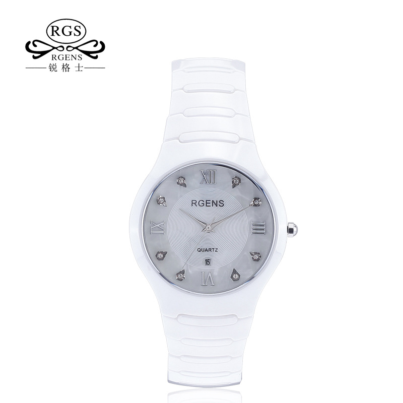 Man Woman Wristwatches Ceramics Luxury Diamond Waterproof Loves Clocks Women Mens Watches Quartz Black White Citizen Movement