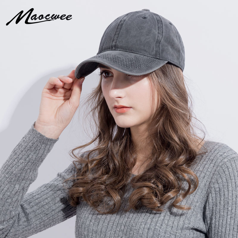 2018 Washed Cotton   Baseball     Cap   Bone Snapback Solid color Woman Men Dad   Caps   Unisex High Quality Couple hip hop Trucker hats