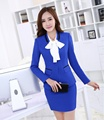 Spring Fall Female Skirt Suits Women Business Suits Formal Office Suits Work Blue Blazer Slim Office Uniform Styles