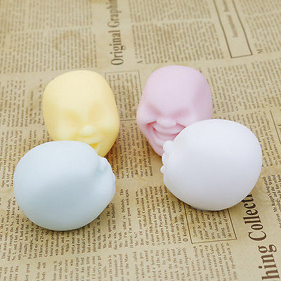 NEW Chic Squishy Toy Stress Relief Squeeze Face Balls Party Trick Fun Anti-Stress Toys