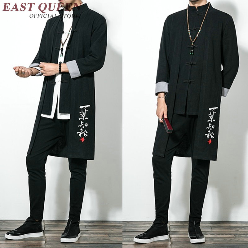 Traditional chinese clothing for men male overcoat outerwear oriental winter trench coat men trenchcoat clothes 2019 KK1768